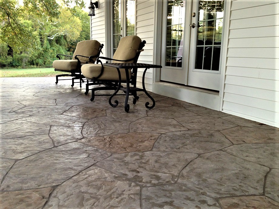 Stamped Concrete Overlay Patio Indianapolis