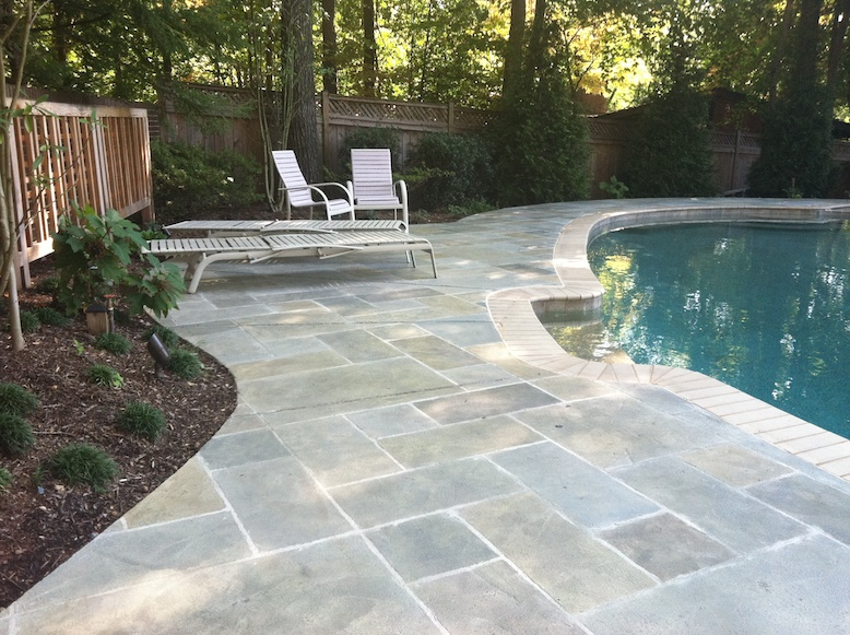 Concrete Pool Decks Indianapolis In Stamped Stained