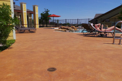 pool deck colored concrete  indianapolis