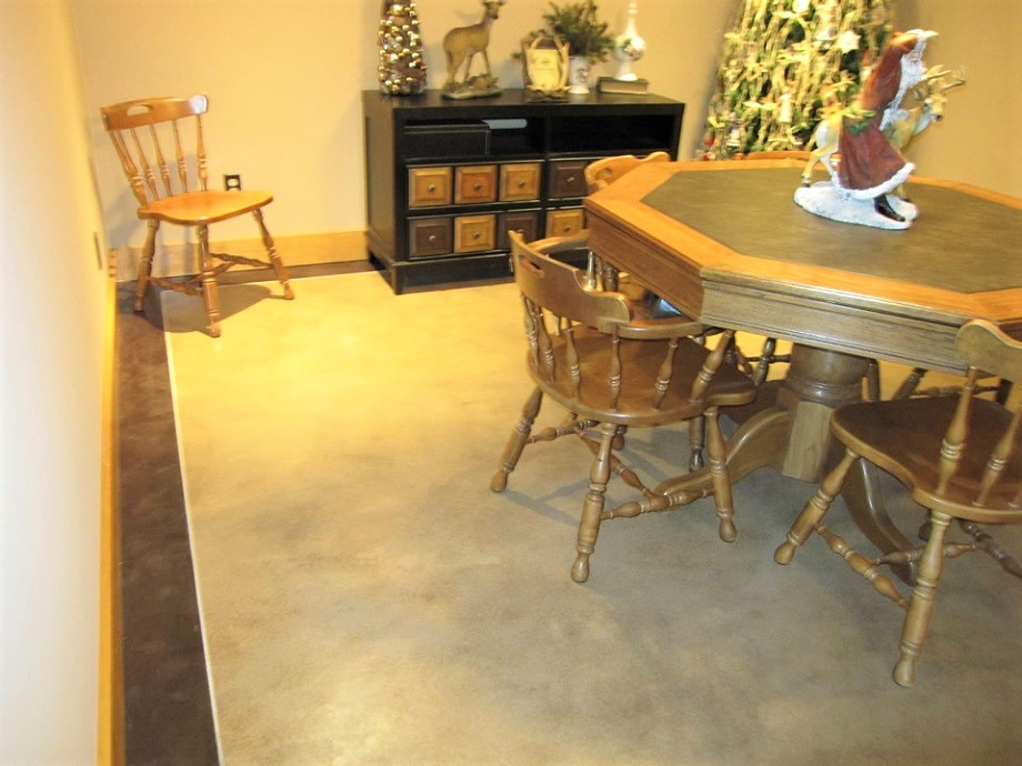 Stained Concrete Indianapolis IN Acid Staining Solution - Stained concrete table