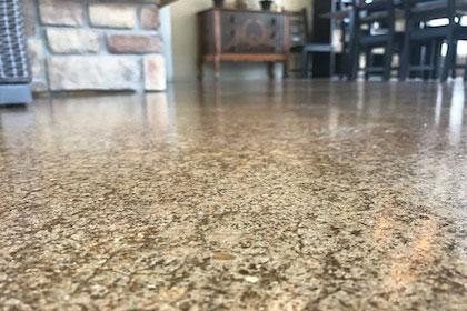 polished concrete garage