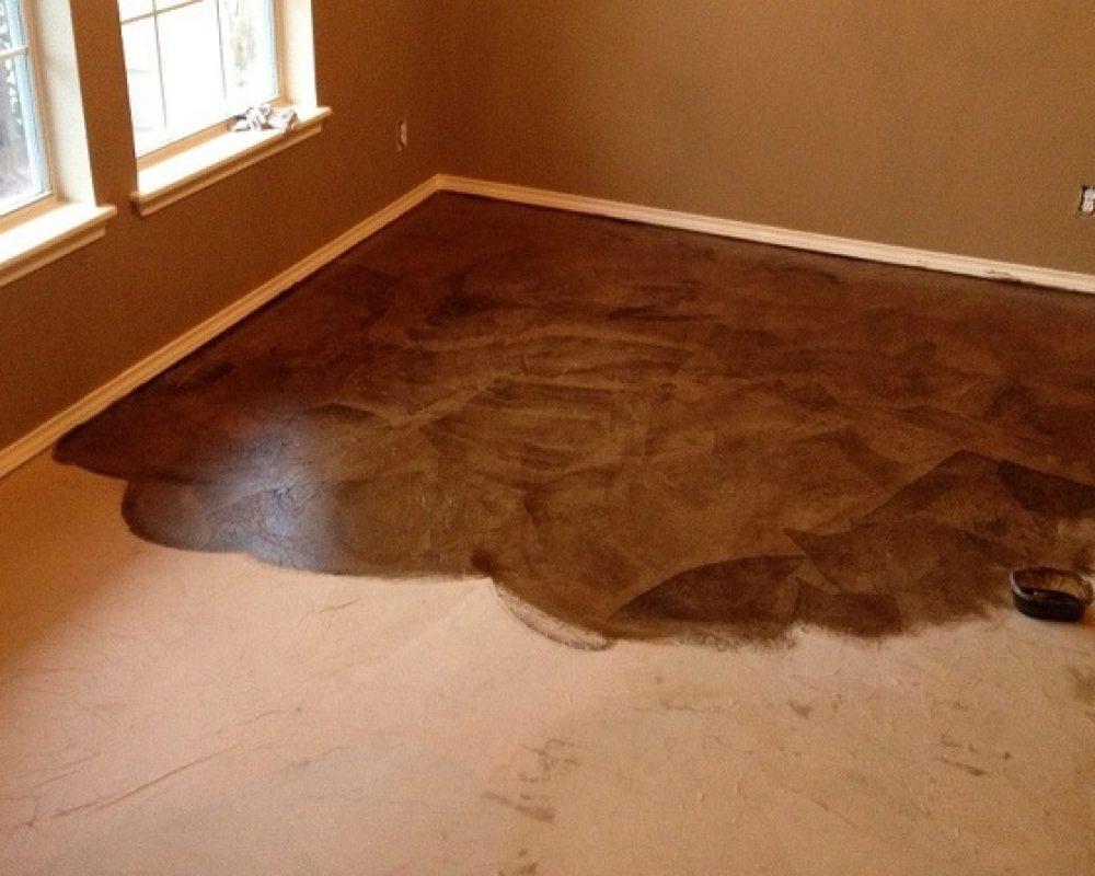 undone concrete staining