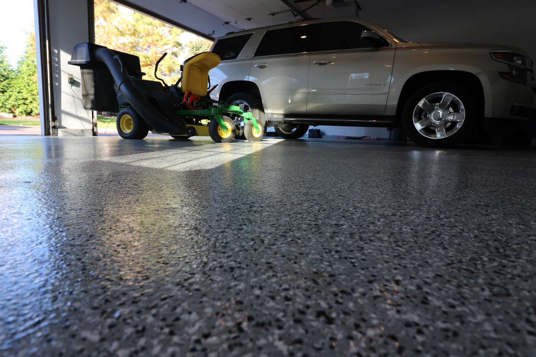 after makeover white ceramic paint floor large coating garage to epoxy image cost