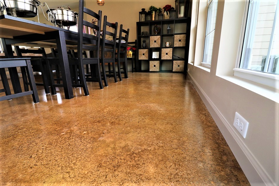 Stained Concrete Indianapolis In Acid Staining Solution