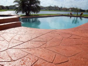 stamped concrete pool deck indianapolis