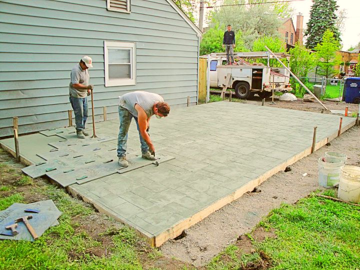 diy stamped concrete project