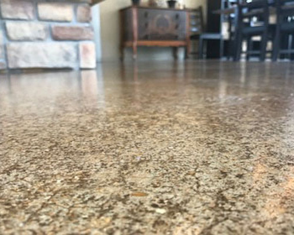 polished concrete garage